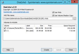 Disk2VHD